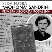 """Elda Flora """"Monona"""" Sandrini, primera abogada rosaleña."""